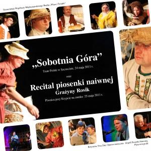 okładka płyty dvd spektakl Sobotnia gora w Teatrze Polskim i Recital G